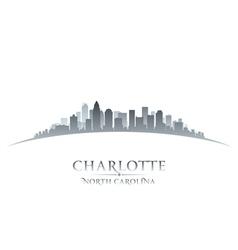 Charlotte North Carolina city skyline silhouette vector image vector image