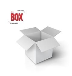 Realistic Open Box EPS10 Paper Box vector image vector image