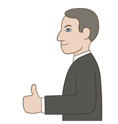Businessman showing thumbs up vector image vector image
