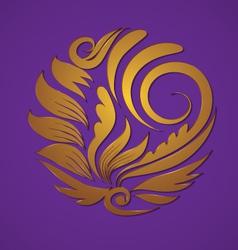 circle gold ornament vector image vector image
