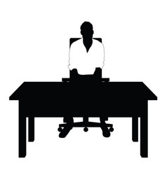 Man silhouette in white t shirt sitting on chair vector