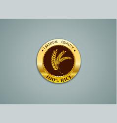 premium quality rice resource vector image