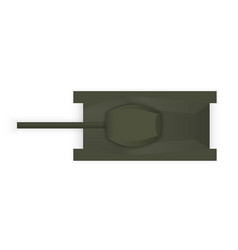silhouette of a military tank view from above vector image