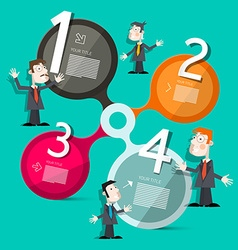Four Steps Circle Infographic Layout with People vector image vector image
