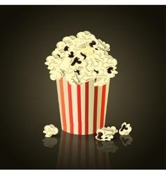 Popcorn box vector image