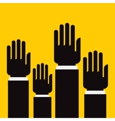 vote hand up vector image