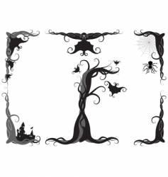 Halloween ornament vector image