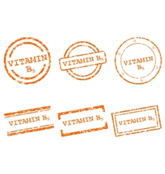 Vitamin B5 stamps vector image vector image