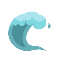wave icon cartoon style vector image vector image