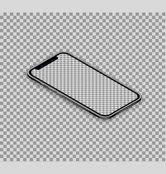 3d realistic isometric smartphone with empty vector