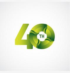 40 th anniversary celebrations green gradient vector