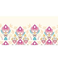 Abstract damask tulips horizontal seamless pattern vector