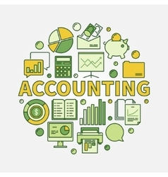 Accounting round colorful vector
