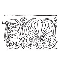 Anthemion have flowers pattern in this design vector