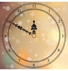 Antique clock fac vector