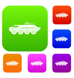 Armored personnel carrier set collection vector