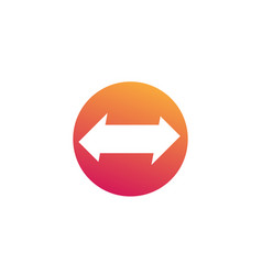 Arrows pointed in two directions icon vector
