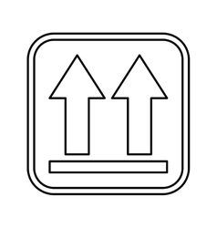 Arrows side up icon vector