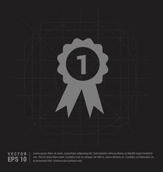 Award icon - black creative background vector