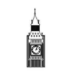 Big ben building isolated icon vector