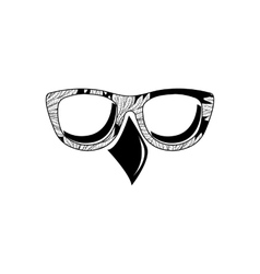 Bird eyeglass vector