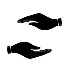 Black hand icon vector image