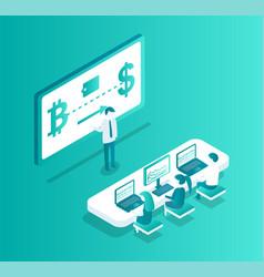 blockchain meeting seminar vector image