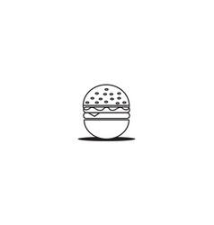 Burgers styles minimalist lines designs vector