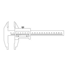 caliper outline drawing vector image