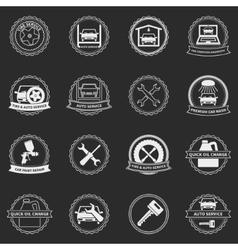 Car service emblems and badges vector
