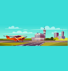 cartoon gray airliner vector image