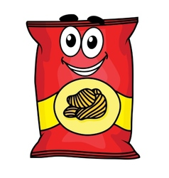 Cartoon potato chips character vector image
