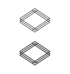 casino badge set collection diamond play rich vector image