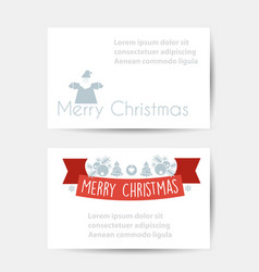 christmas celebratory banner vector image