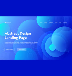 Circle abstract shape landing page background vector