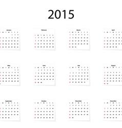 Classical calendar on a light background vector image