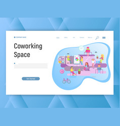 co-working space vector image