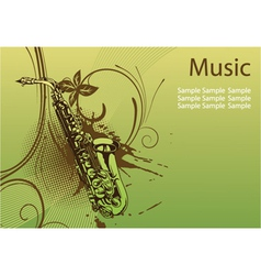 Concert poster with saxophone vector