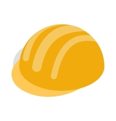 Construction Helmet icon isometric 3d style vector