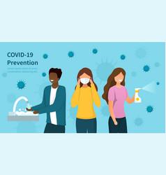 Covid-19 prevention protocols concept vector