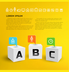 Cubes business infographics vector