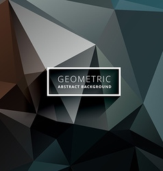 Dark geometric polygonal background vector