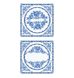 Decoratin-buton-faience vintage vector