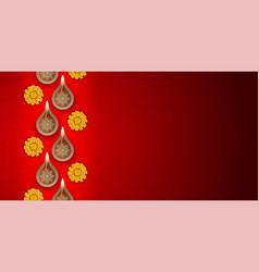 diwali festival background vector image