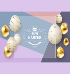 easter multicolor composition with eggs on vector image