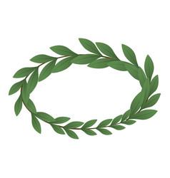 heraldic wreath icon isometric style vector image