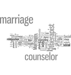 How to choose a marriage counselor vector