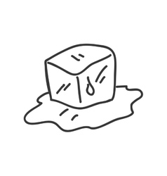 ice cube icon Sketch design graphic vector image