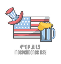 Independence day american vector