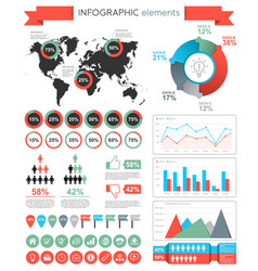Infographic elements template vector
